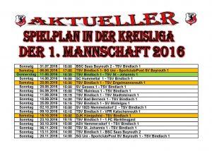 Spielplan Erste 2016